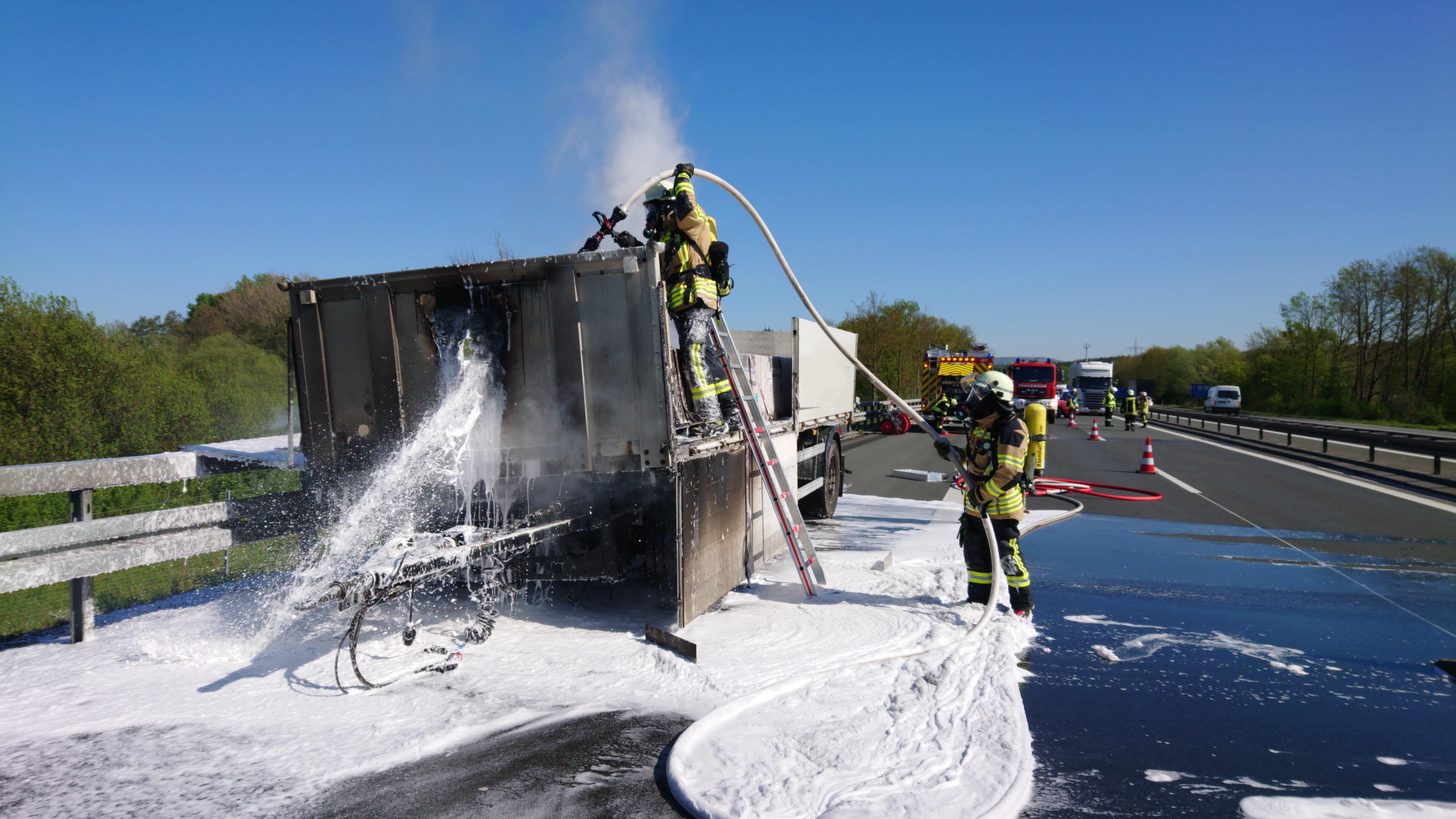 Brand Auf Autobahn Heute